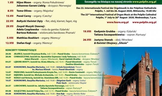 Inauguracja XXII Międzynarodowego Festiwalu Muzyki Organowej w Pelplinie